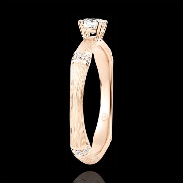 Inel de logodnă Junglă Sacră - diamant 0.2 carate - aur roz de 9K cu lustru periat