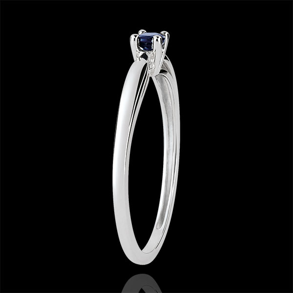 Inel de logodnă Solitaire mlădiere - safir 0.1 carate - aur alb de 18K