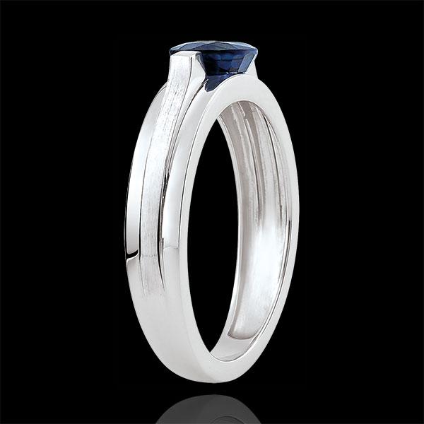Inel de logodnă Victoria variantă - safir 1 carat - aur alb de 18K