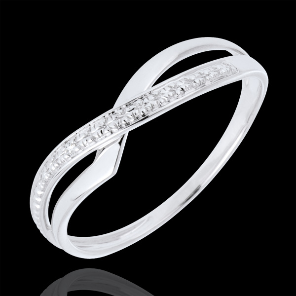 Inel Marina din aur alb de 18K cu diamant