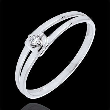 Inel Modernity Diamant aur alb de 9K - diamant 0.01 carate