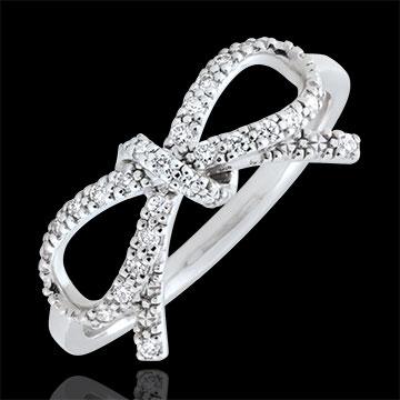 Inel Nod Fineţe diamante albe - Argint şi diamante