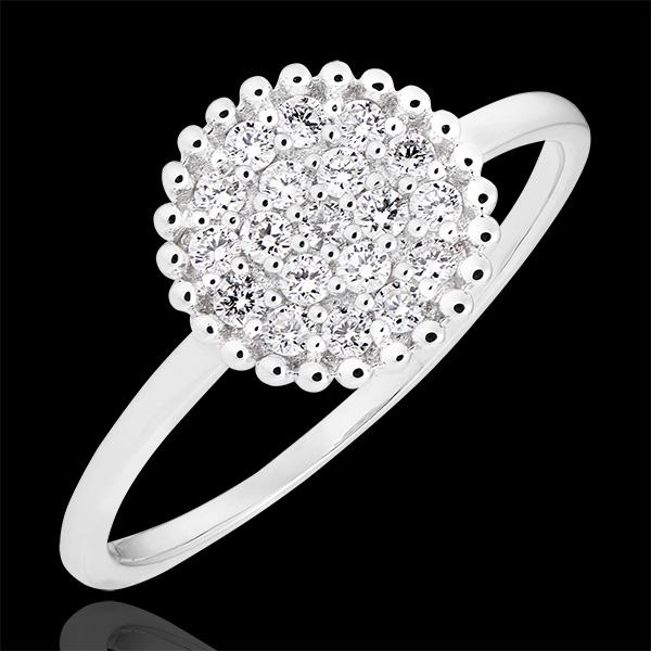 Inel Penelope - aur alb de 9k și diamante