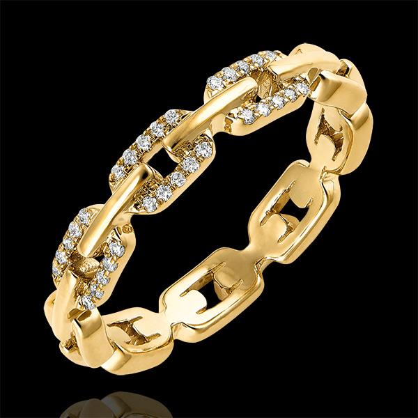 Inel Privire din Orient – Zale Cubaneze Diamante variantă – aur galben de 9 carate și diamante