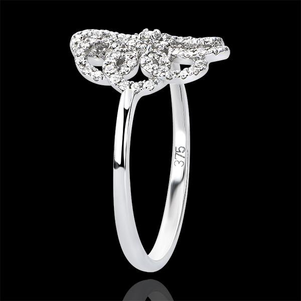Inel Prospeţime - Arabesc - aur alb 9K şi diamante