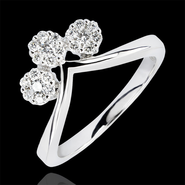 Inel Prospeţime - Canaf - aur alb 18K şi diamante