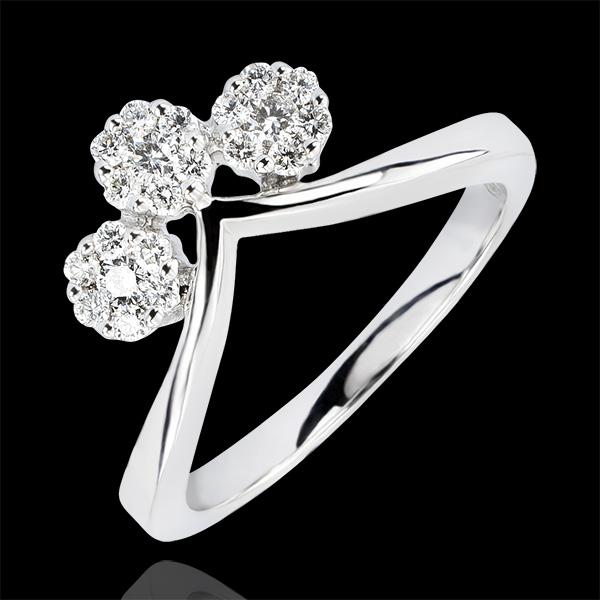 Inel Prospeţime - Canaf - aur alb 9K şi diamante