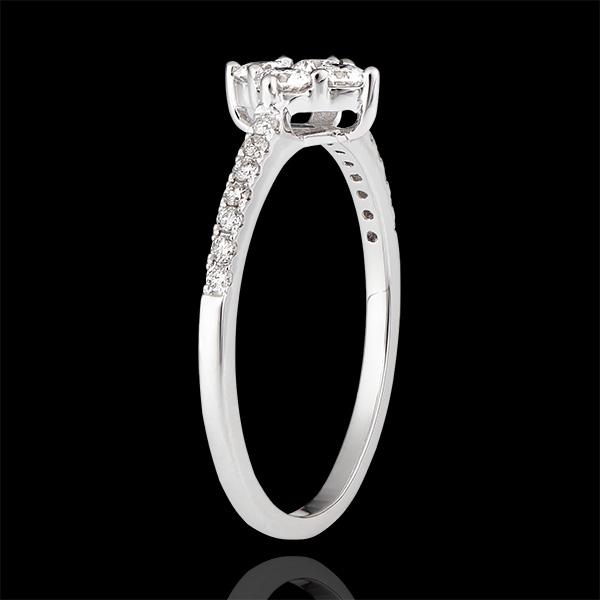 Inel Prospețime - Dina - aur alb de 9 carate și diamante