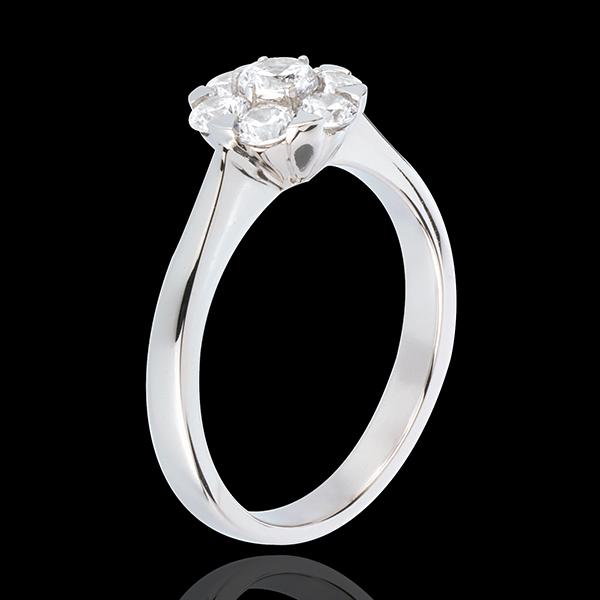 Inel Prospeţime - Magnolia - aur alb de 18K - 0.88 carate - 7 diamante