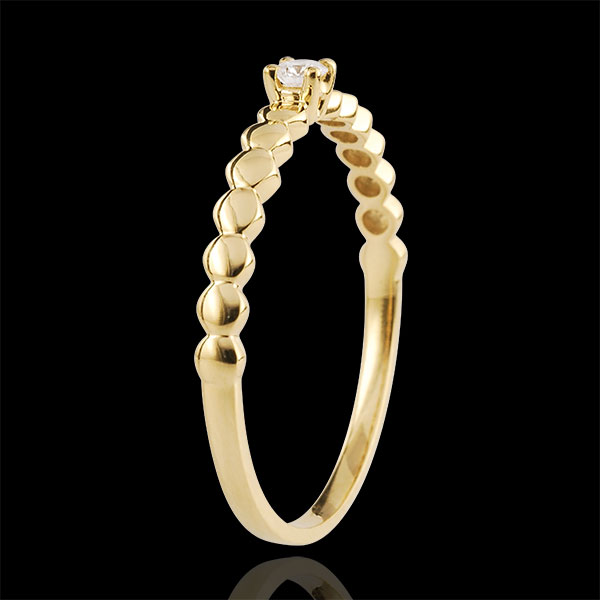 Inel Solitaire Bomboane aur galben de 18K - 0.05 carate