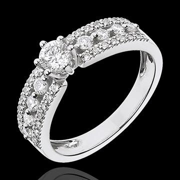 Inel Solitaire Destin - Ţarină - aur alb de 18K - diamant de 0.27 carate