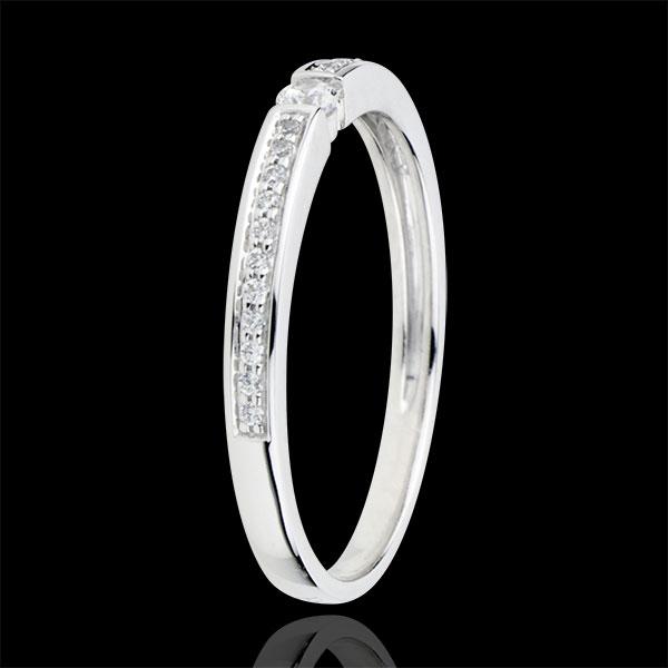 Inel Solitaire Diamant Suprem - diamant 0.05 carate - aur alb de 9K