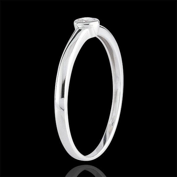 Inel Solitaire Diamantul Meu - 0.08 carate - aur alb de 18K