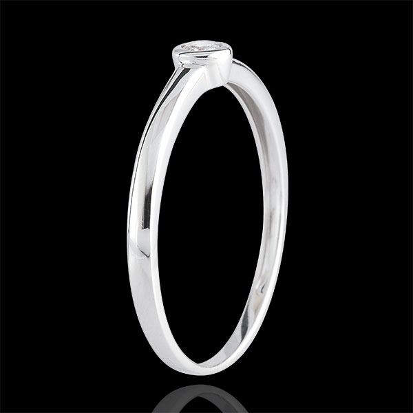 Inel Solitaire Diamantul Meu - 0.08 carate - aur alb de 9K