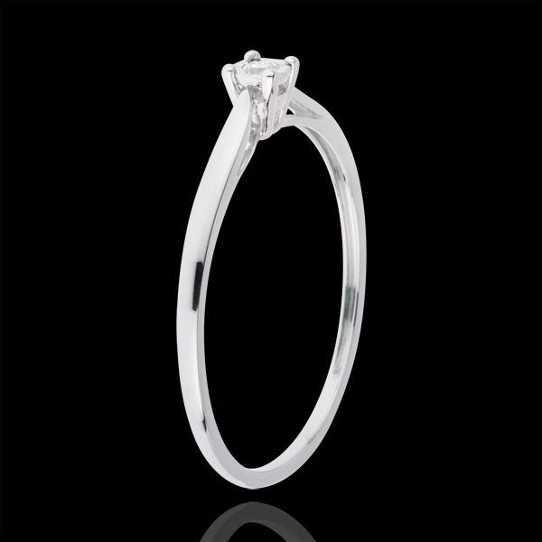 Inel Solitaire Mlădiere - 0.03 carate - aur alb de 18K