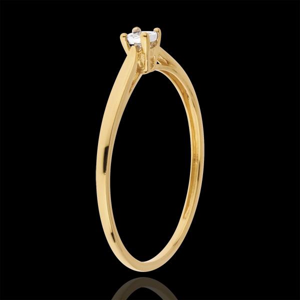 Inel Solitaire Mlădiere - 0.03 carate - aur galben de 18K