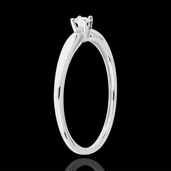 Inel Solitaire Mlădiere - 0.07 carate - aur alb de 18K