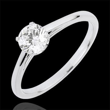 Inel Solitaire Puritate Preţioasă - diamant 0.50 carate - aur alb de 18K