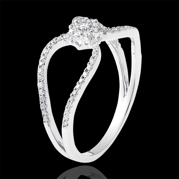 Inel Valentine - aur alb de 9k și diamante