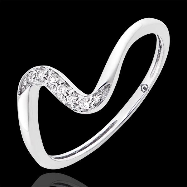 Inel Zélie - Aur alb de 18k și diamante