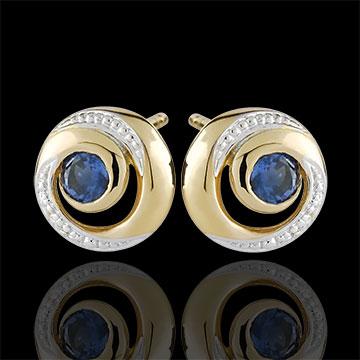 Infinite Swirl Sapphire Earrings