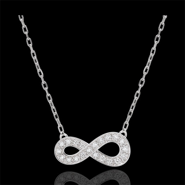Infinity necklace - white gold and diamonds