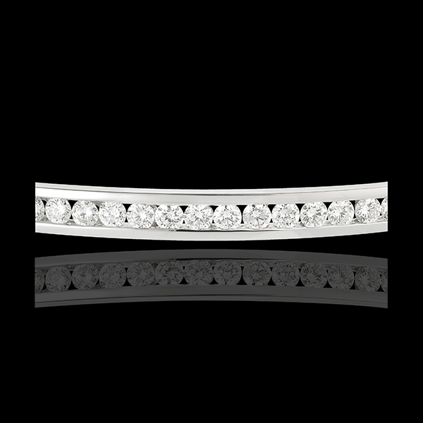 Jonc Constellation - Astrale - 1 rang de diamants - 1.24 carat - 21 diamants - or blanc 18 carats