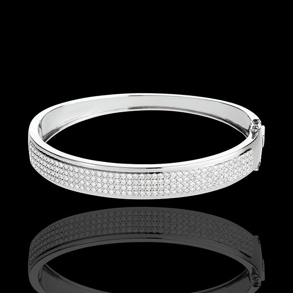 Jonc Constellation - Astrale - 4 rangs de diamants - 1.62 carats - 180 diamants - or blanc 18 carats