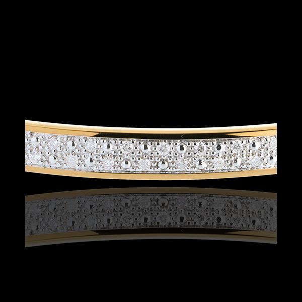 Jonc diorama barrette diamants - 0.25 carats - 23 diamants - or jaune 18 carats
