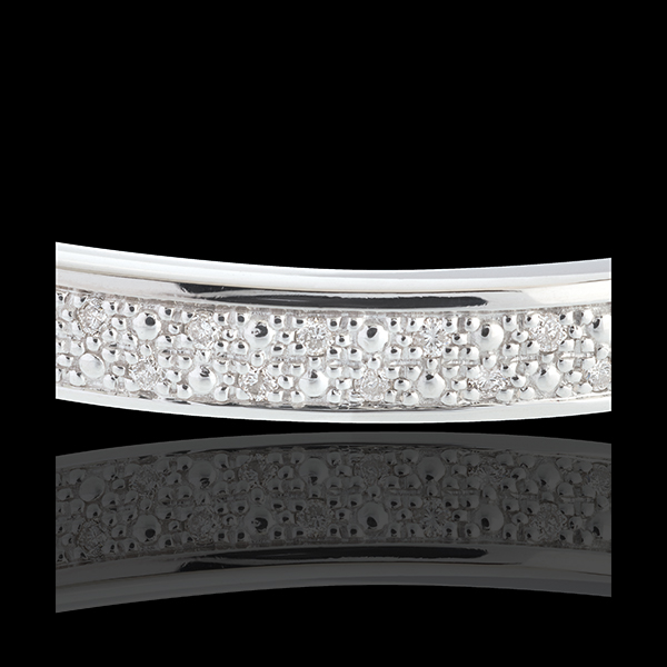 Junco diorami pasador diamantes - oro blanco - 0.25 quilates - 23 diamantes