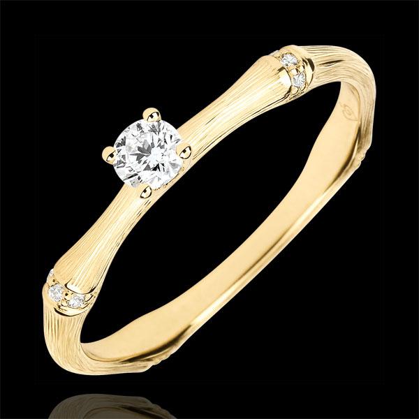 Jungle Sacrée engagement ring - 0.09 carat diamond - brushed yellow gold 18 carats