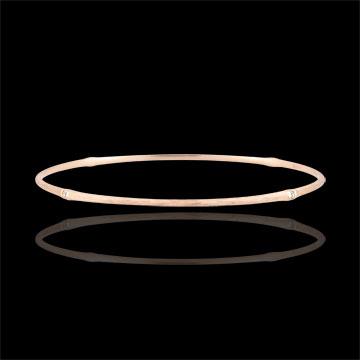 Jungle Sacrée Rigid Bracelet - diamonds - 18 carat brushed pink gold