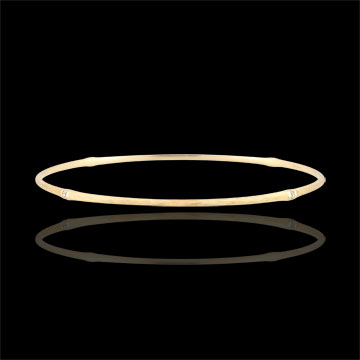 Jungle Sacrée Rigid Bracelet - diamonds - 18 carat brushed yellow gold