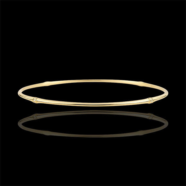 Jungle Sacrée Rigid Bracelet - diamonds - 9 carat yellow gold