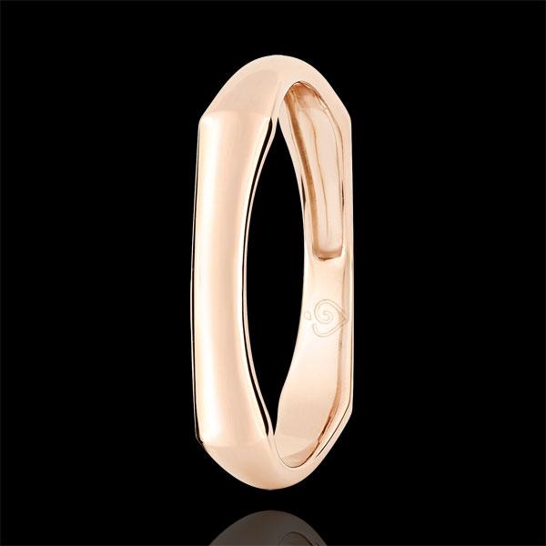 Jungle Sacrée wedding ring - 4 mm - pink gold 9 carats