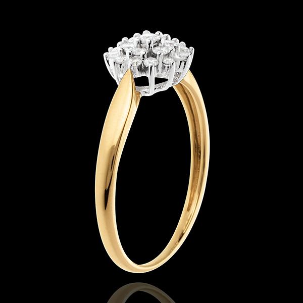 Kaleidoscope ring yellow gold - 0.26 carat - 19 diamonds