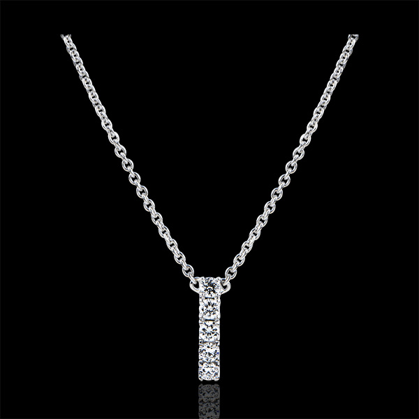 Ketting Overvloed - Cartoucha - goud 9 karaat en diamanten