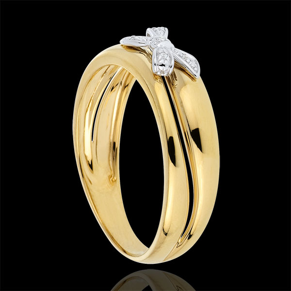 Knotted Eden Ring - Yellow gold