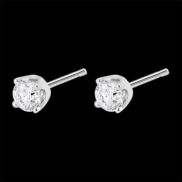 Kolczyki z diamentami (bardzo duży model +) - sztyfty z białego złota 18-karatowego - 0,5 karata