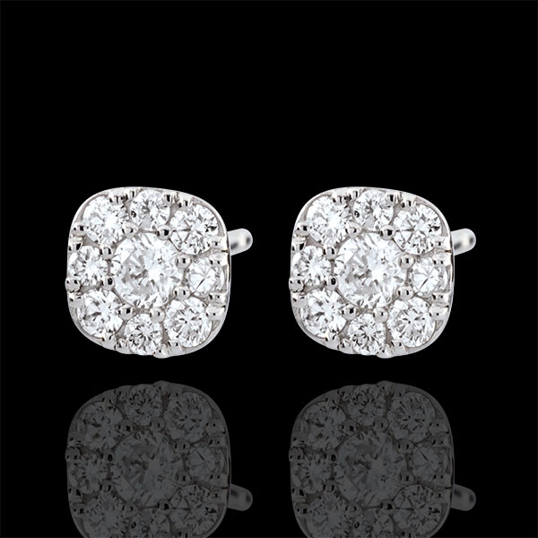 Kolczyki z diamentami Lavia - złoto białe 9-karatowe