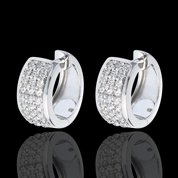Kolczyki Konstelacja - Gwiazd - duży model - złoto białe 18-karatowe wysadzane diamentami - 0,43 karata - 54 diamenty