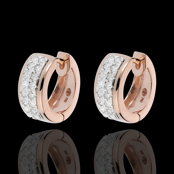 Kolczyki Konstelacja - Gwiazd - mały model - 32 diamenty 0,22 karata - złoto białe i złoto różowe 18-karatowe