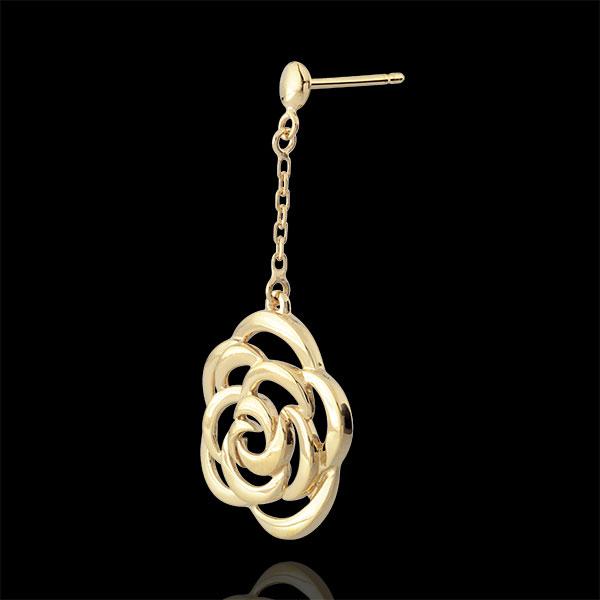 Kolczyki w kształcie kwiatów Couture - kolczyki wiszące - złoto żółte 9-karatowe