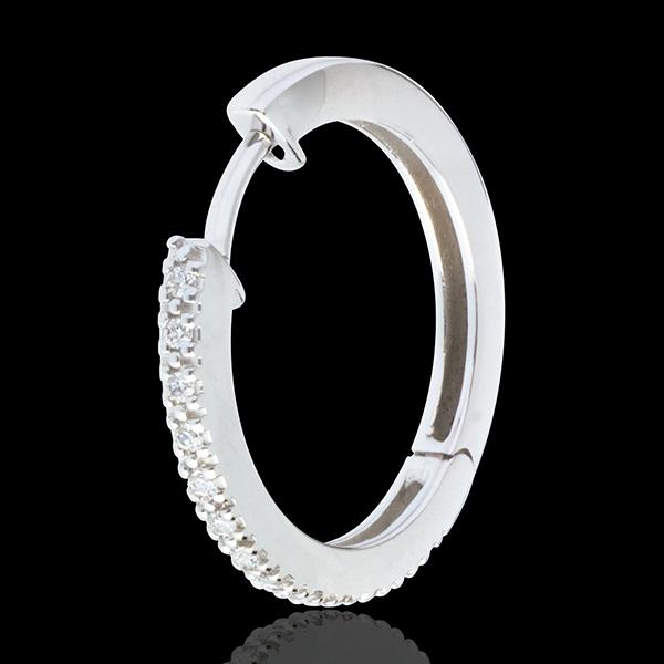 Kolczyki półkola z białego złota 18-karatowego wysadzane diamentami - 26 diamentów