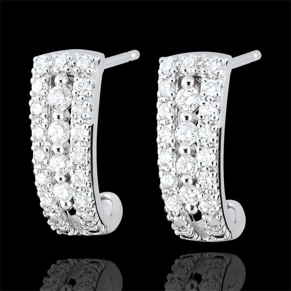 Kolczyki Przeznaczenie w kształcie koła - Medyceusze - diamenty i białe złoto 18-karatowe