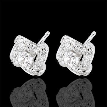Kolczyki Przeznaczenie - Perska Księżniczka - złoto białe 18-karatowe i diamenty