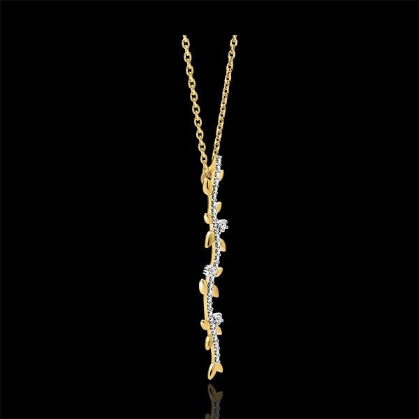 Lange Ketting Magische Tuin - Gebladerte Royal - 9 karaat geelgoud met Diamanten