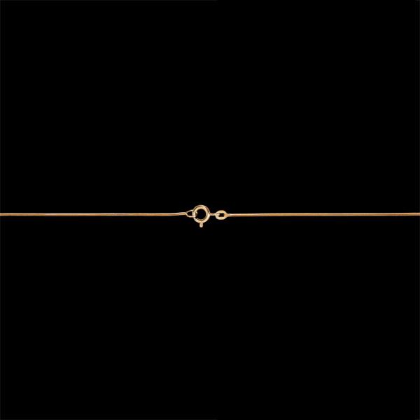 Lanţ Şarpe aur galben de 18K - 42 cm