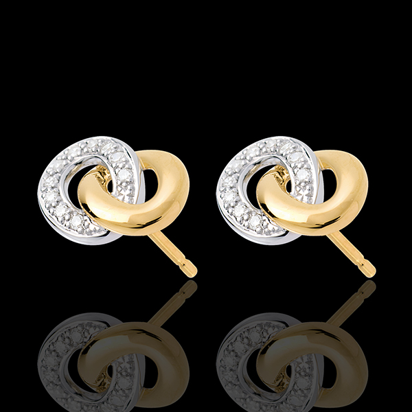 Loop Stud Earrings - 20 diamonds