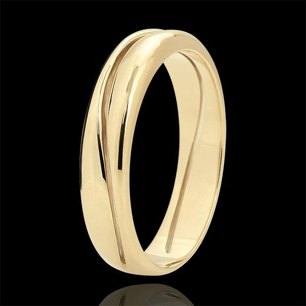 Love Ring - golden yellow wedding ring for men - 9 carat
